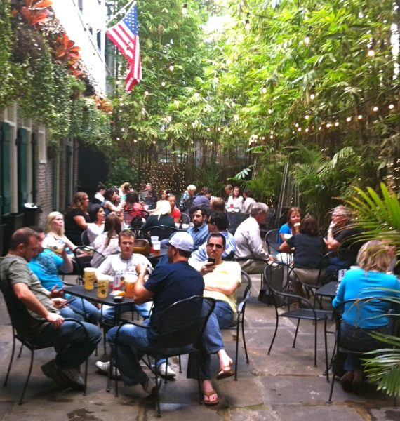 711 Bourbon Heat Courtyard