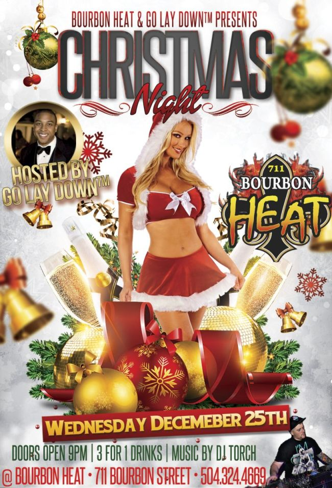 Geaux Lay Down™ Party Christmas Night Dec 25th | Bourbon Heat